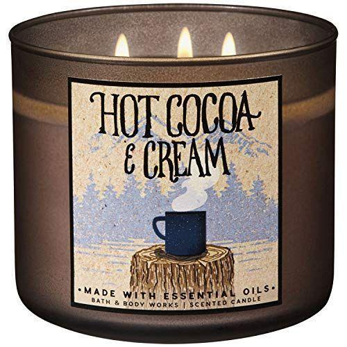"""<p><strong>Bath & Body Works</strong></p><p>amazon.com</p><p><a href=""""http://www.amazon.com/dp/B07JVCPN2M/?tag=syn-yahoo-20&ascsubtag=%5Bartid%7C10050.g.2655%5Bsrc%7Cyahoo-us"""" rel=""""nofollow noopener"""" target=""""_blank"""" data-ylk=""""slk:Shop Now"""" class=""""link rapid-noclick-resp"""">Shop Now</a></p><p>With notes of chocolate and steamed milk, this candle will warm you up after a cold day—and it'll look beautiful in your home all the way through winter.</p>"""
