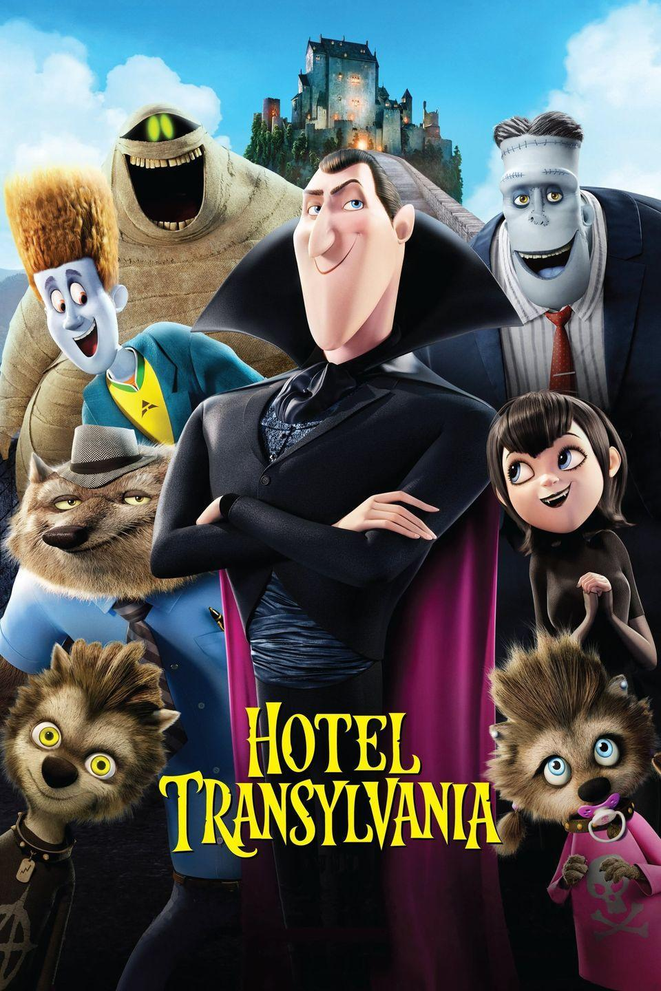 """<p>Dracula runs a hotel for monsters with his daughter, Mavis, but when Jonathan, a human comes to stay there, Dracula tries to kick him out, only to realize Mavis and Jonathan have fallen in love. </p><p><a class=""""link rapid-noclick-resp"""" href=""""https://www.amazon.com/Adam-Sandler/dp/B00APJLY0Q/?tag=syn-yahoo-20&ascsubtag=%5Bartid%7C10065.g.29354714%5Bsrc%7Cyahoo-us"""" rel=""""nofollow noopener"""" target=""""_blank"""" data-ylk=""""slk:Watch Now"""">Watch Now</a></p>"""