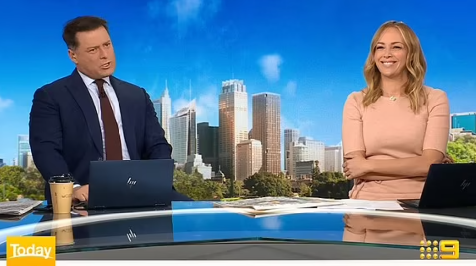 Today hosts Karl Stefanovic and Sophie Walsh