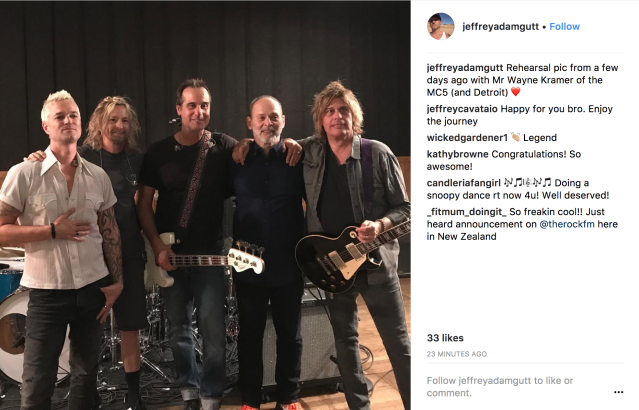 Stone Temple Pilots with Wayne Kramer (Photo: Jeff Gutt's Instagram)