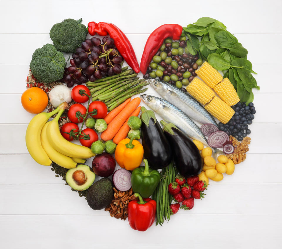 The heart-healthy Mediterranean diet, high in vegetables, fruits, whole grains, beans, nuts, seeds, and olive oil, was rated the No. 1 diet of 2021. (Photo: Getty Images)