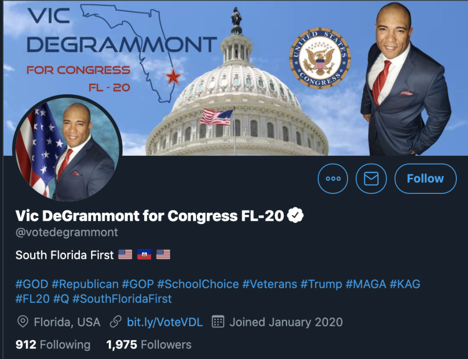 Vic DeGrammont's Twitter page