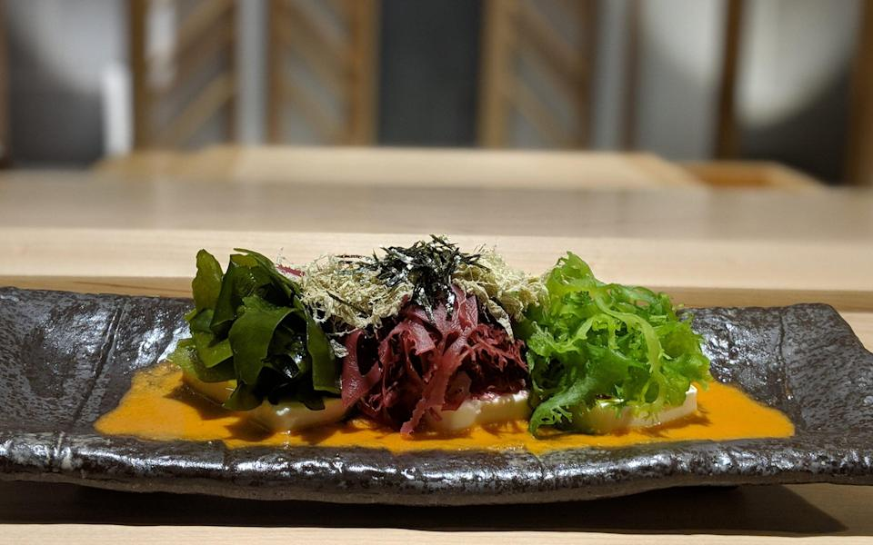 The seaweed salad at Ginza Onodera in London, which uses five types of seaweed - Ginza Onodera