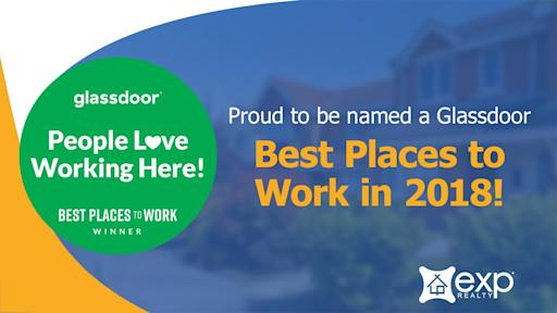 eXp Realty Named a Best Place to Work in Glassdoor's 2018 Employees' Choice Awards