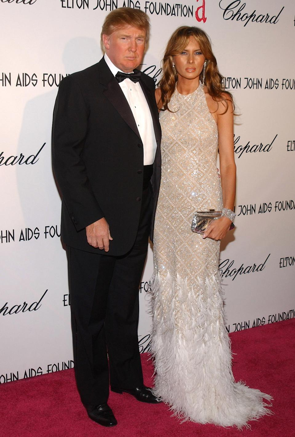 <p>The future president and first lady at Elton John's annual AIDS Foundation Oscar party in 2005. (Photo: Getty Images) </p>