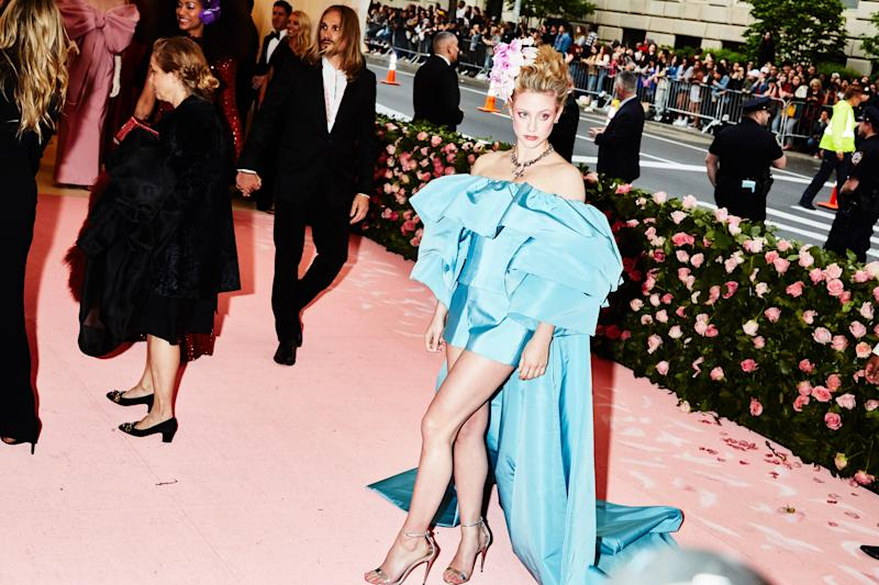 Lili Reinhart on the red carpet at the Met Gala in New York City on Monday, May 6th, 2019. Photograph by Amy Lombard for W Magazine.