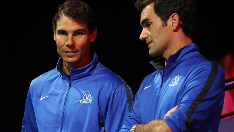 Rafael Nadal and Roger Federer. Pic: Getty