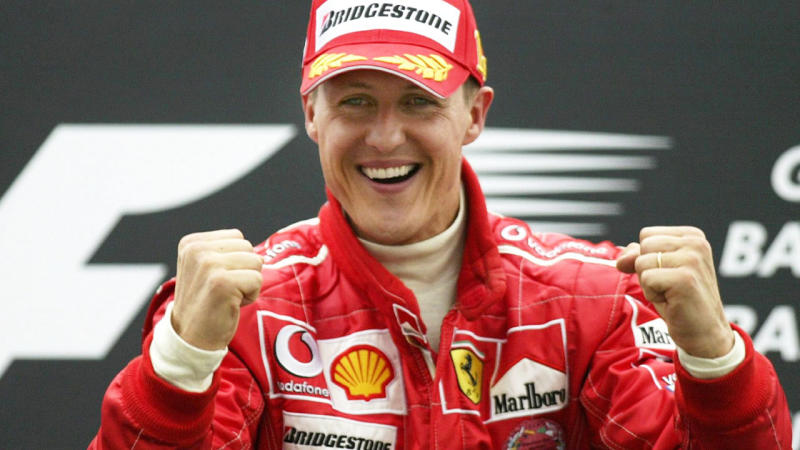 Michael Schumacher, pictured here after a race in 2004.