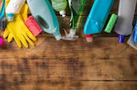 """If you want to save money and keep your home cleaner, be sure to purchase those cleaning supplies in larger quantities. Not only do cleaning products have long shelf lives, """"if you buy them in bulk they can be really cheap,"""" says <strong>Arthur Ruth</strong>, vice president of operations at <a href=""""https://memphis-maids.com/"""" rel=""""nofollow noopener"""" target=""""_blank"""" data-ylk=""""slk:Memphis Maids"""" class=""""link rapid-noclick-resp"""">Memphis Maids</a>."""