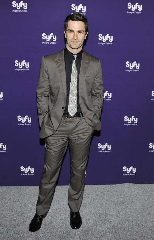 "Sam Witwer (""<a href=""http://tv.yahoo.com/being-human-syfy/show/45462/"">Being Human</a>"") attends Syfy's 2012 Upfront event at the American Museum of Natural History on April 24, 2012 in New York City."