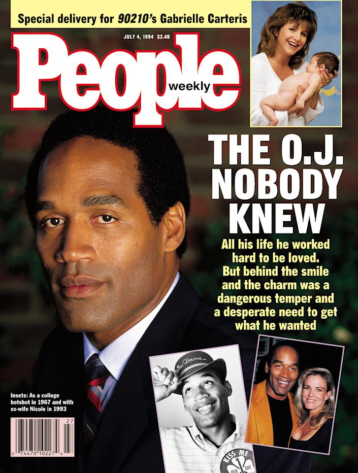 "<p>Before his ex-wife's killing in 1994, NFL legend O.J. Simpson was known not only for his prowess on the football field but also for his affable nature as an actor and celebrity.  But shortly after he was accused of murdering Nicole Brown Simpson, and her friend, waiter Ronald Goldman, details about rage-filled fights with his ex-wife that were fueled by jealousy began to emerge.  ""I don't know who the guy is,"" Simpson's longtime acquaintance, onetime National Football League superstar Jim Brown, said at the time.  In 1995, after the ""Trial of the Century,"" Simpson was famously acquitted of double murder.  But after a conviction for a 2007 armed robbery and kidnapping in Las Vegas, Simpson is now serving a 33-year-sentence, though he is eligible for parole in July.</p>"