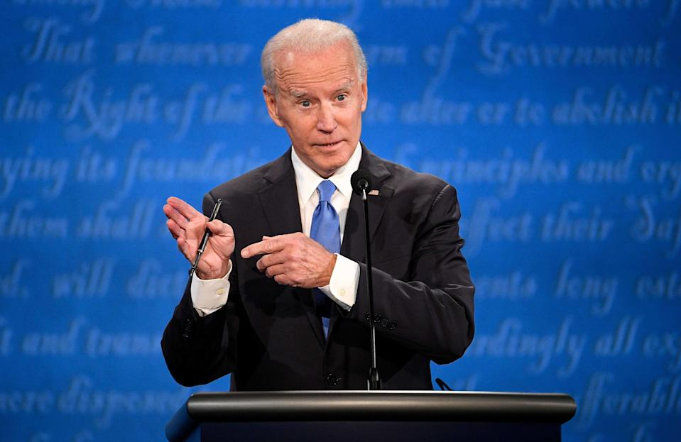 Democratic presidential challenger Joe Biden is winning support from Conservative party lawmakers in the UK. (SIPA USA/PA Images)