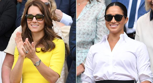The Duchess of Cambridge and Meghan Markle's previously worn brands are now on sale in Amazon's Big Style Sale. (Getty Images)