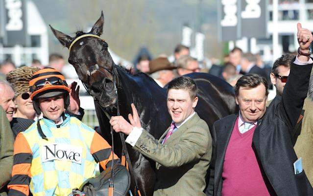 <span>Might Bite won the RSA Novices' Steeple Chase</span>