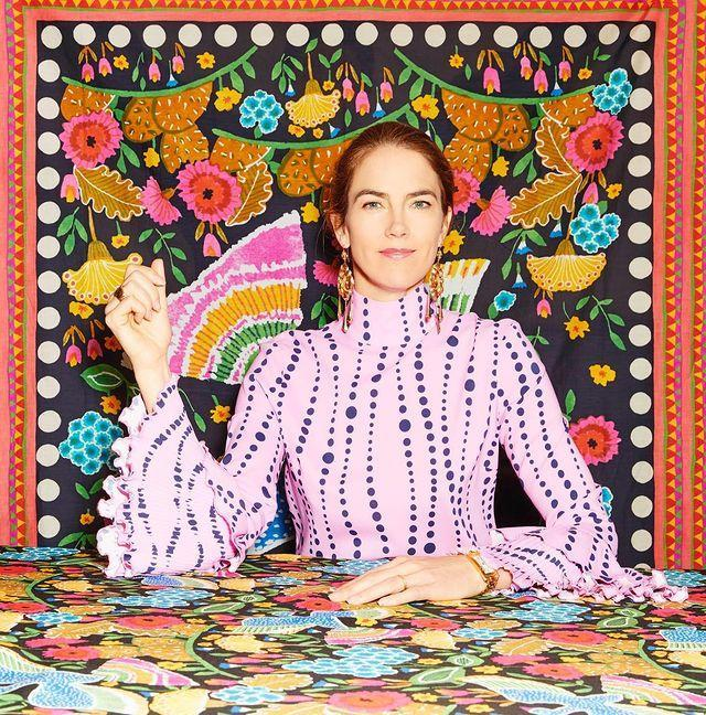 """<p>'Whenever I travel to a new place, I ask the locals when they have a market. Go early and without any expectations. The vintage gods always reward you when you go with wide-eyed wonder and keep an open mind. </p><p>'I look for print first – vibrant colours and patterns. Buying beautifully sequinned or richly embroidered vintage pieces is the greatest deal, because a similar piece produced today would be 20 times more expensive. Keep accessories very clean and modern.'</p><p><a href=""""https://www.instagram.com/p/CMC_qj0nZh3/"""" rel=""""nofollow noopener"""" target=""""_blank"""" data-ylk=""""slk:See the original post on Instagram"""" class=""""link rapid-noclick-resp"""">See the original post on Instagram</a></p>"""