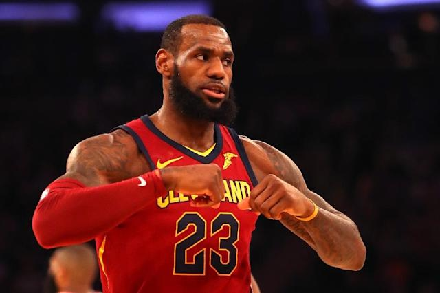 LeBron James has averaged 24.0 points, 10.3 rebounds and 8.3 assists against the Celtics this season as Cleveland won two of three meetings (AFP Photo/Mike Lawrie)