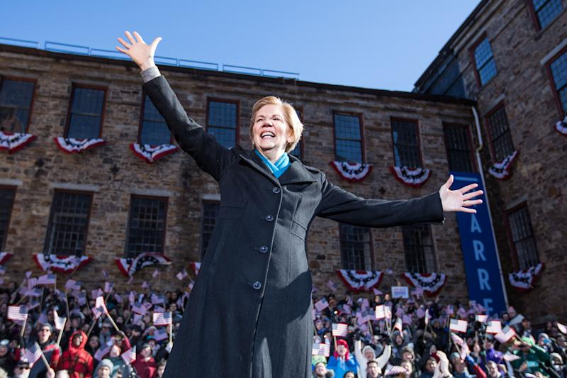 Sen. Elizabeth Warren (D-MA) Announces Presidential Bid In Lawrence, Massachusetts