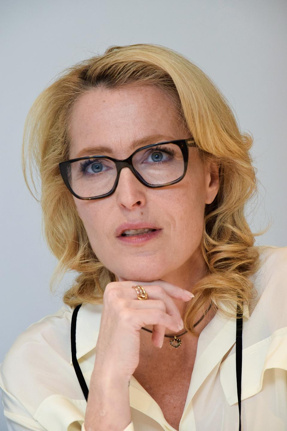 Gillian Anderson at the Hollywood Foreign Press Association press conference for