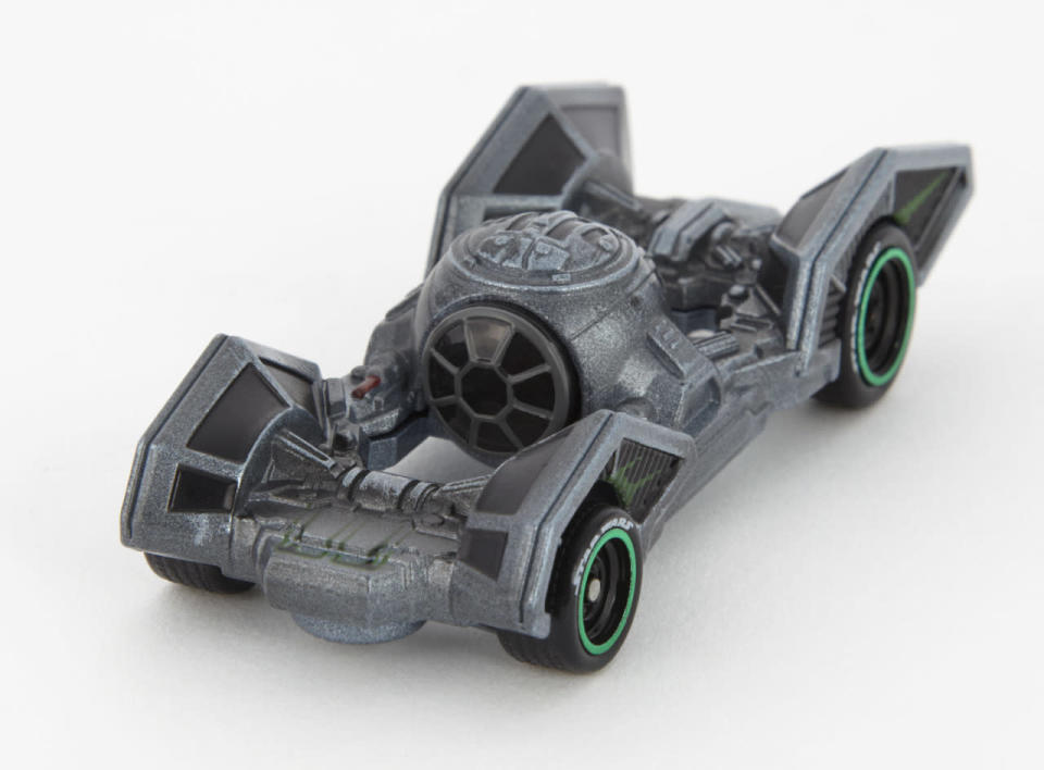 """<p>A brace of Vader's minions protect his flank in a these tricked-out """"carships."""" </p>"""