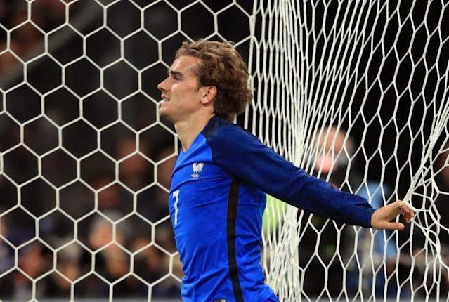 France's Antoine Griezmann dejected during the game