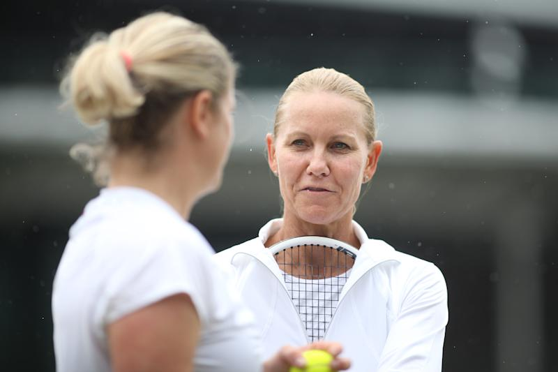 Rennae Stubbs during the Invitation Doubles tournament during the Wimbledon Lawn Tennis Championships.
