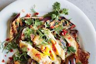 """When you put an egg on eggplant, you get a delightful, flavorful, and filling vegetarian main course. <a href=""""https://www.epicurious.com/recipes/food/views/grilled-eggplant-with-fresh-hot-sauce-and-crispy-eggs-56389859?mbid=synd_yahoo_rss"""" rel=""""nofollow noopener"""" target=""""_blank"""" data-ylk=""""slk:See recipe."""" class=""""link rapid-noclick-resp"""">See recipe.</a>"""