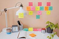 """<p><strong>Post-it</strong></p><p>amazon.com</p><p><strong>$12.88</strong></p><p><a href=""""http://www.amazon.com/dp/B01D8F5JRW/?tag=syn-yahoo-20&ascsubtag=%5Bartid%7C10055.g.2358%5Bsrc%7Cyahoo-us"""" rel=""""nofollow noopener"""" target=""""_blank"""" data-ylk=""""slk:SHOP NOW"""" class=""""link rapid-noclick-resp"""">SHOP NOW</a></p><p>For reminders you just can't forget, write them on a sticky notes and place them where they're most helpful. Keep a list of college application to-dos on a Post-It stuck to your teenager's laptop or place a sticky note on the door to remember sneakers for the class field trip. </p>"""