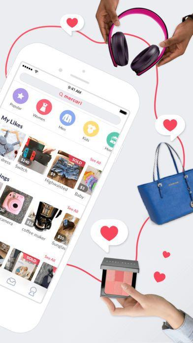 "Shop and sell new and used items such as fashion, shoes, beauty, jewelry, electronics, books and more straight from your mobile phone. Download it <a href=""https://itunes.apple.com/us/app/mercari/id896130944?mt=8"" target=""_blank"">here</a>."