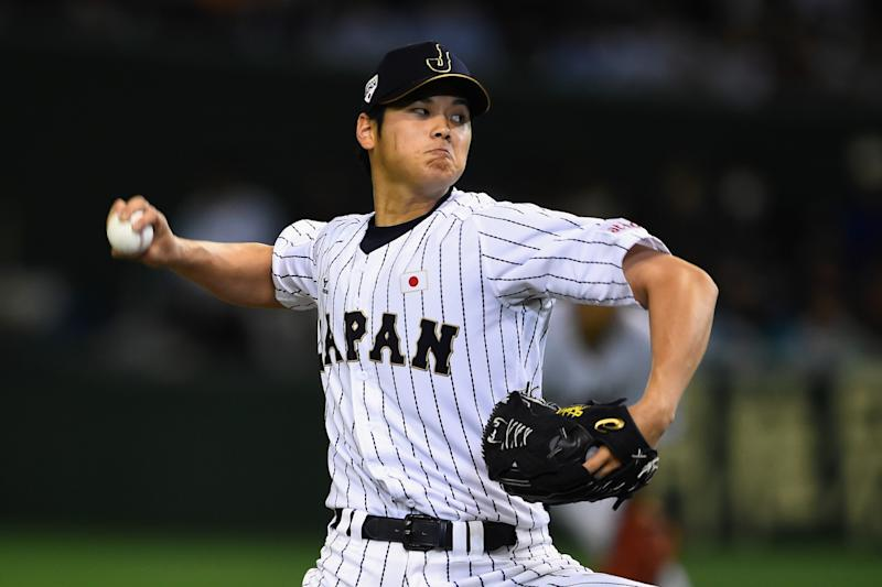 Shohei Otani has yet to pitch this season because of a hamstring injury. (Getty Images)