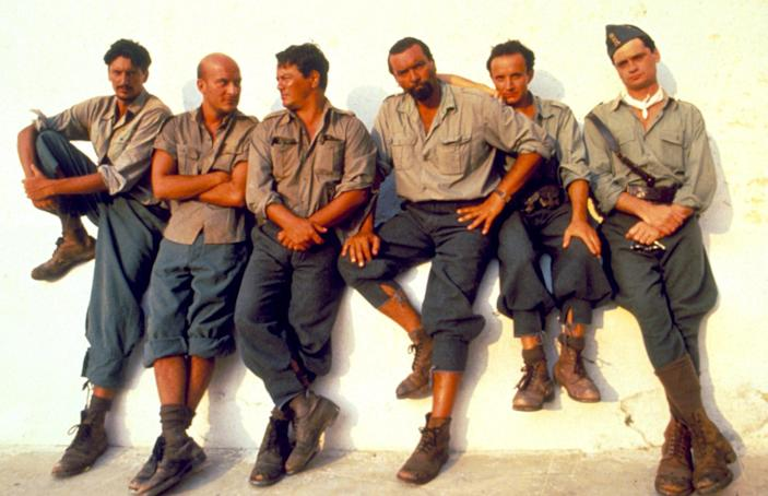 In the 1991 film Mediterraneo, a platoon of Italian soldiers are stranded on a tiny Greek island - Alamy