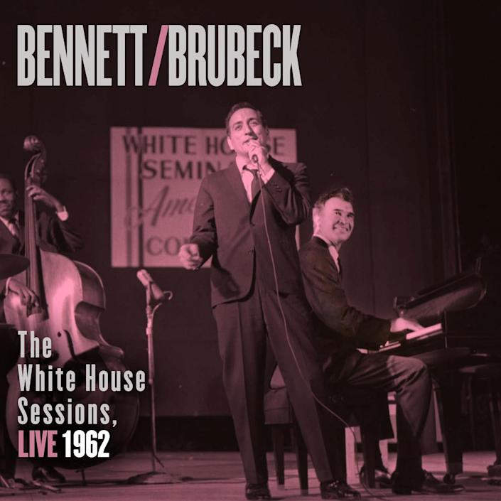 """This CD cover image released by Columbia Legacy shows """"The White House Sessions, Live 1962,"""" by Tony Bennett and Dave Brubeck.(AP Photo/Columbia Legacy)"""