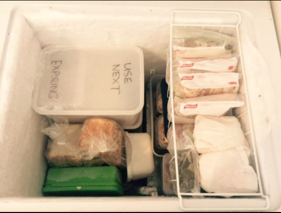Penina and her family spend the days making frozen meals