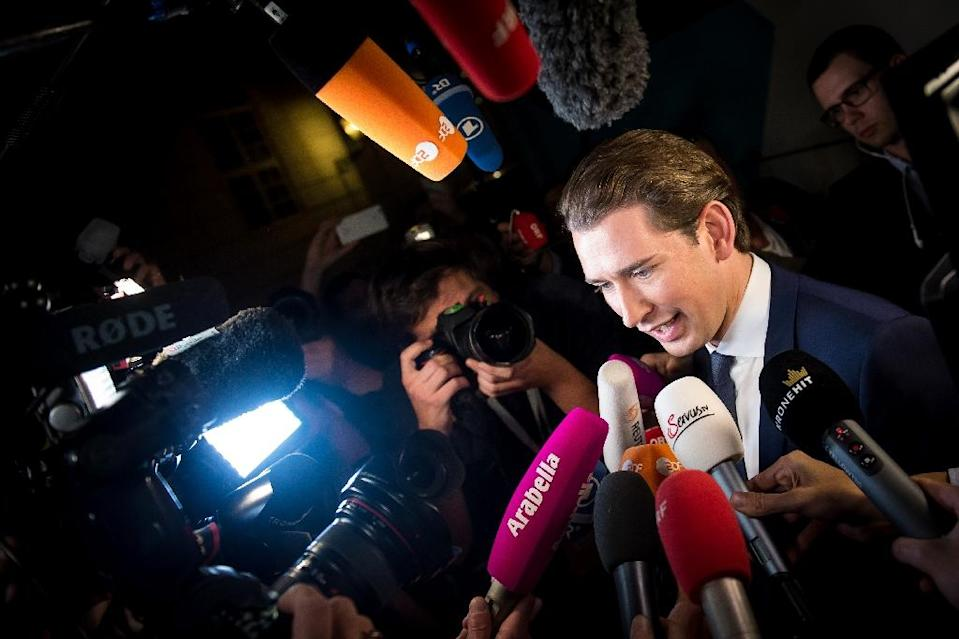 Sebastian Kurz made a clampdown on immigration a central theme of his campaign in last year's elections (AFP Photo/VLADIMIR SIMICEK)