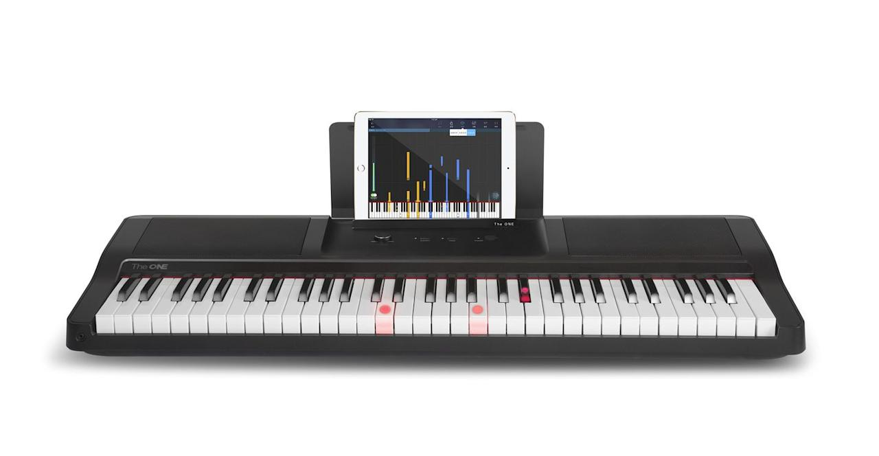 """<p><a rel=""""nofollow"""" href=""""https://www.smartpiano.com/products/the-one-light-keyboard"""">SHOP</a></p><p>""""I'll pick up the piano!"""" you told yourself on New Year's Day. """"That'll be fun and worthwhile!"""" A month later, you've done nowt. Try this then: the free iOS and Android app gives you three ways to learn, with video lessons, piano-based games and more than 4,000 pieces of sheet music. The key, though, is the <em>Guitar Hero</em>-style display and light-up keys which should turn even the most tone-deaf into passable pianists. </p><p><em>Smartpiano, £215</em></p>"""
