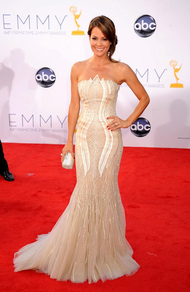 Brooke Burke Charvet arrives at the 64th Primetime Emmy Awards at the Nokia Theatre in Los Angeles on September 23, 2012.