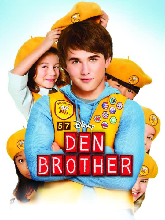 """<p>A person named """"Hutch Dano"""" and another person named """"G. Hannelius"""" appear in this film about a butch high school hockey player forced to lead his sister's girl scout troop. Gender stereotypes ensue! <br><br><i>(Credit: Disney Channel)</i> </p>"""