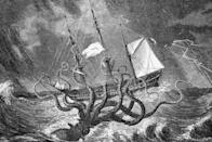"<p><strong>Origin:</strong> Nordic Folklore</p><p>The mythical Kraken is one of the scariest monsters ever imagined. One of the <a href=""http://www.scielo.br/pdf/hcsm/v21n3/0104-5970-hcsm-21-3-0971.pdf"" rel=""nofollow noopener"" target=""_blank"" data-ylk=""slk:earliest mentions"" class=""link rapid-noclick-resp"">earliest mentions</a> of the gigantic cephalopod came from Swedish King Sverre of Norway in 1180. Some said the creature was so massive, it could eat maritime crews whole and sink ships in an instant. </p><p>Although descriptions of the beast in folklore vary to some degree, the general consensus is the Kraken was likely <em>Architeuthis dux</em>—more commonly known as the <a href=""https://www.popularmechanics.com/science/animals/a30547379/giant-squid-genome/"" rel=""nofollow noopener"" target=""_blank"" data-ylk=""slk:giant squid"" class=""link rapid-noclick-resp"">giant squid</a>. We put the Kraken near the top of the list because it's one of the most fearsome creatures in the world—and it's based off of an animal that actually exists.</p>"