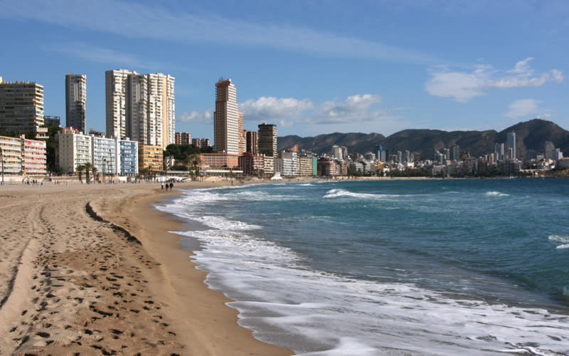 <p>Though it's synonymous with rowdy stag dos and first time holidays best kept off Facebook, Benidorm still garnered a top spot as one of the most searched-for destinations this year. <em>[Photo: Getty] </em> </p>