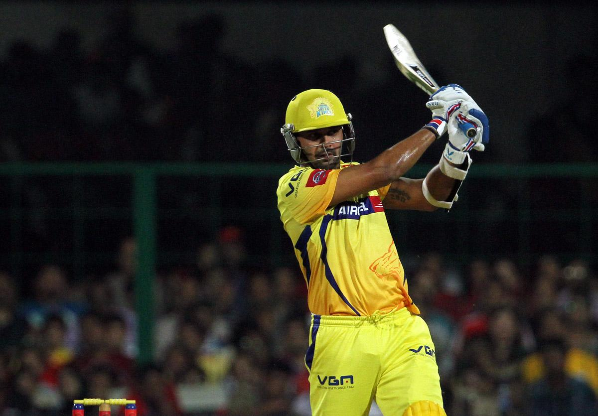 Chennai Super King player Murali Vijay plays a shot during match 70 of the Pepsi Indian Premier League between The Royal Challengers Bangalore and The Chennai Super Kings held at the M. Chinnaswamy Stadium, Bengaluru  on the 18th May 2013. (BCCI)