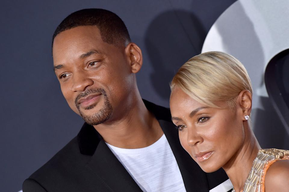 HOLLYWOOD, CALIFORNIA - OCTOBER 06: Will Smith and Jada Pinkett Smith attend Paramount Pictures' Premiere of