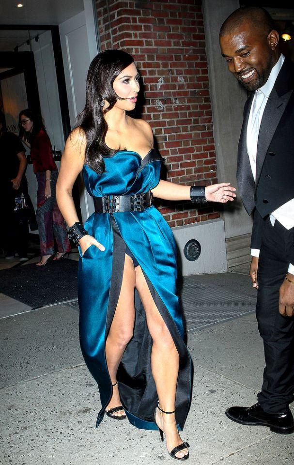 <p>The petite, 5-foot-3 reality star didn't mind showing off her leg — and then some — en route to the Met Gala in 2014. (Photo: AKM-GSI) </p>