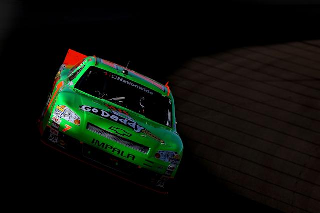 LAS VEGAS, NV - MARCH 10: Danica Patrick drives the #7 GoDaddy.com Chevrolet during the NASCAR Nationwide Series Sam's Town 300 at Las Vegas Motor Speedway on March 10, 2012 in Las Vegas, Nevada. (Photo by Ezra Shaw/Getty Images)