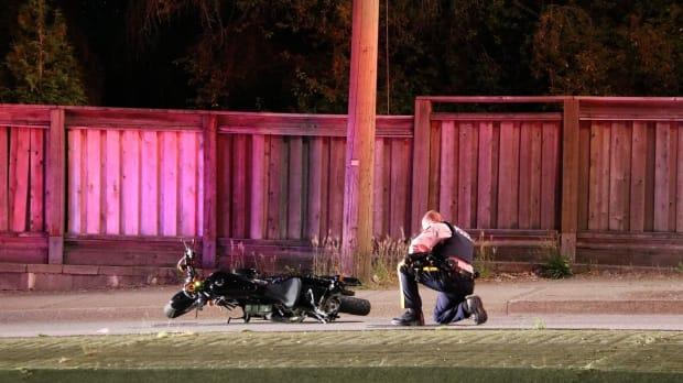 Police are asking anyone who might have witnessed the collision or has dashcam footage of the incident to contact them. (Ryan Stelting - image credit)
