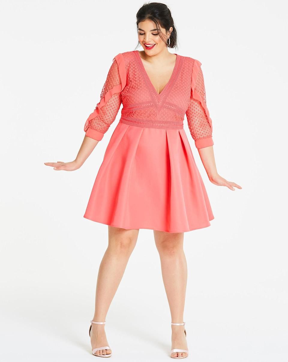 Simply Be Little Mistress Ruffle Skater Dress (Photo: Simply Be)