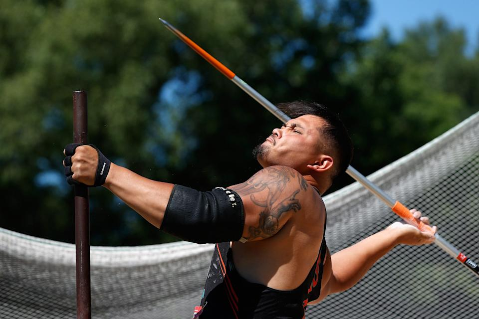Justin Phongsavanh broke the men's F54 javelin throw world record with a distance of 33.29 meters (109.2 feet) during the U.S. Paralympic Team Trials for Track and Field in June.