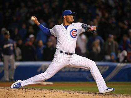 Hector Rondon has saved nine of the Cubs' 35 wins this season. (Getty Images)