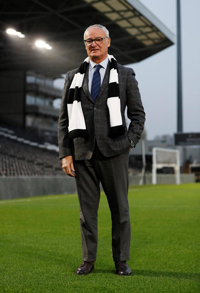 Soccer Football - Premier League - Fulham - Claudio Ranieri Press Conference - Craven Cottage, London, Britain - November 16, 2018 New Fulham manager Claudio Ranieri poses on the pitch Action Images via Reuters/Paul Childs
