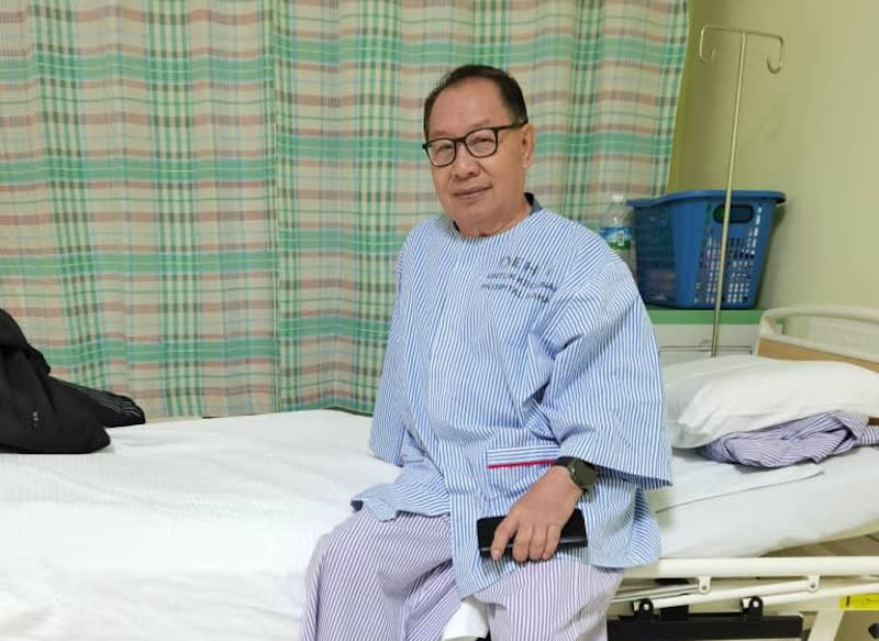 Datuk Seri Jeffrey Kitingan is currently receiving medical attention for COVID 19 at the Queen Elizabeth Hospital. — Picture courtesy of Jeffrey Kitingan