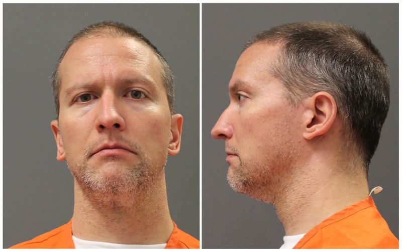 Former Minneapolis police officer Derek Chauvin poses for a booking photograph