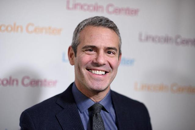 Andy Cohen talks about his holiday plans with his dog, Wacha. (Photo: Dave Kotinsky/Getty Images)